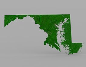 Maryland State for 3ds and obj