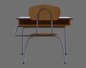 School Desk and Chair 3D model furniture