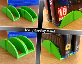 Stackable DVD and Blu-Ray stand holder 3D printable model