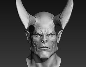 3D Demon Head 01