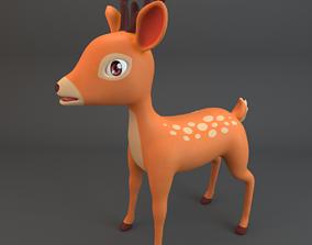 3D model game-ready Cartoon Deer