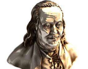 Benjamin Franklin 3D print model