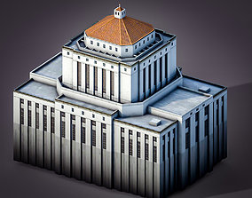 3D model Alameda County Courthouse