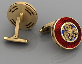 Cufflinks with eagles 3D printable model