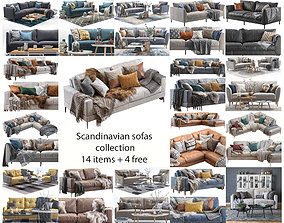 3D model Scandinavian Sofas