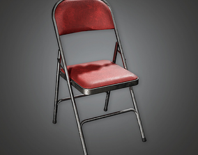 Folding Chair 01a HLW - PBR Game Ready 3D asset