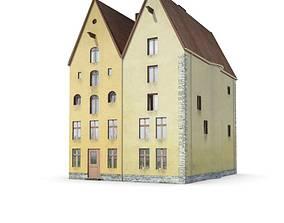 Quaint Town Houses 3D