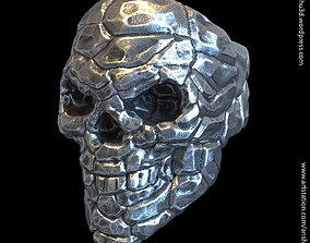 Skull Rock Ring vol 1 3D printable model punk