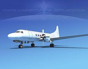 Convair CV-580 Unmarked 1 3D model