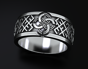Stylish ring with a Celtic wedding pattern 3D print model