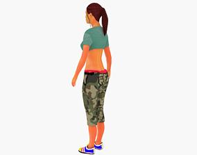 3D asset College girl model