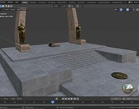 3D model realtime Arco Parabolico - Tacna - Peru