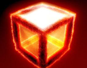 3D Burning Cube