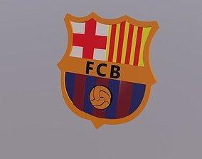 3D Barcelona Logo Football Club