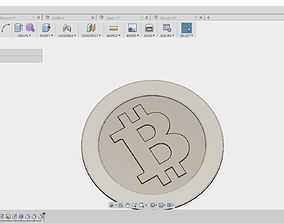 3D printable model 5 Cryptocoins pack low-poly