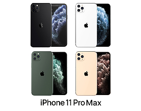 3D model Apple iPhone 11 Pro Max Collection
