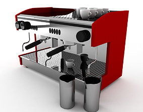 Cafe Coffee Machine for barista 3D model coffee