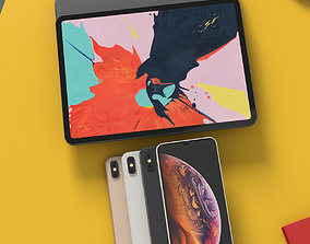 iPhone XS Max and iPad Pro 2018 Bundle With All Colors 3D