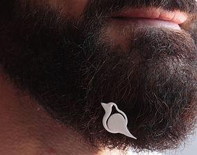 Robin for beard - front wearing 3D printable model
