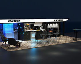 Kitchen Concept Exhibition Stand 3D