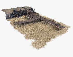 ready Wooden Pier 3D model realtime
