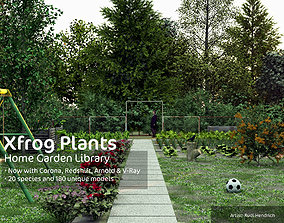 2020 XfrogPlants Home Garden Library 3D