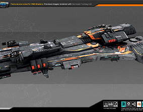 Federation Destroyer K4 3D asset VR / AR ready
