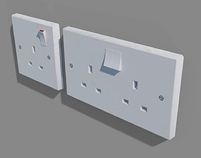 UK Plug Sockets 3D model