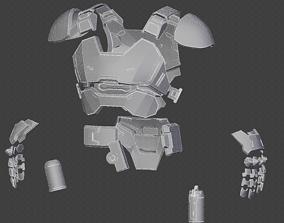 3D print model Blackwatch Reyes armor from
