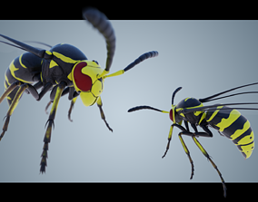Wasp Insect 3D asset