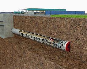 3D model Tunnel Boring Machine Scence