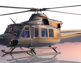 3D model PBR Bell 412 Ep
