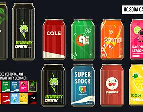 3D model HQ Soda Can Pack