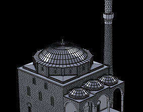 3D printable model fatih mosque