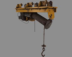 3D model Defect scifi crane