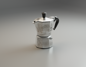 3D model game-ready Coffee Maker