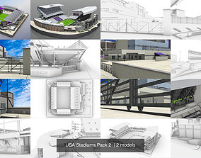 3D exterior USA Stadiums Pack 2