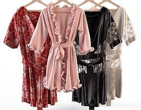 3D model Set of womens silk robes