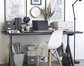3D Office workplace 44 workstation