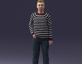 Teenager in t-shirt 0204 3D model