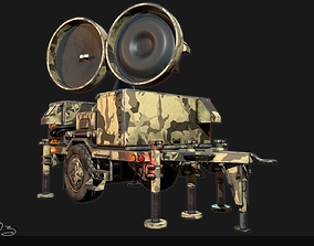 3D asset Low Poly PBR Sentinel Radar - HPIR