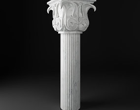 baroque Greek Column 3D model