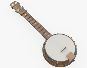 Banjo 3D model VR / AR ready