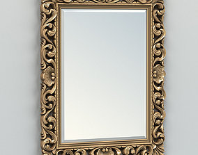 Rectangle mirror frame 006 3D model