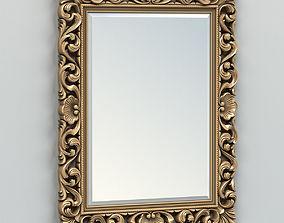Rectangle mirror frame 006 3D