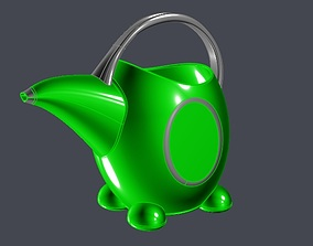 3D printable model Green kids watering can