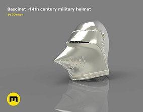3D printable model Bascinet -14th century military helmet