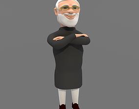 rigged Narendra Modi 3D Character