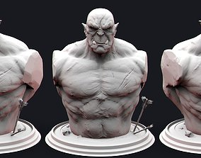 Orc Bust 3D printable model head