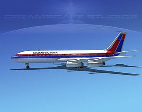 Boeing 707 Air Dominicana 3D model